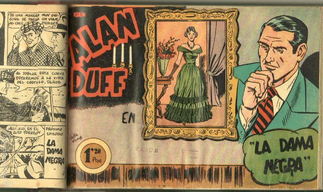Tebeos: ALAN DUFF ORIGINAL COMPLETA 1 AL 30 EDI. MARCO 1952 DIBUJOS JULIO VIVAS, MUY BIEN CONSERVADOS, VER I - Foto 17 - 61220411