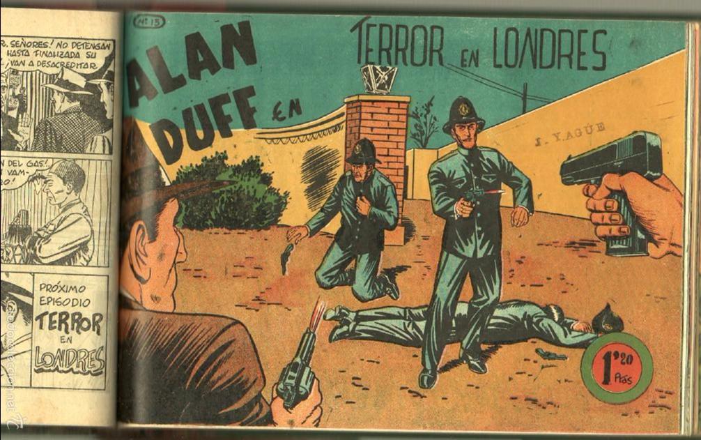 Tebeos: ALAN DUFF ORIGINAL COMPLETA 1 AL 30 EDI. MARCO 1952 DIBUJOS JULIO VIVAS, MUY BIEN CONSERVADOS, VER I - Foto 26 - 61220411