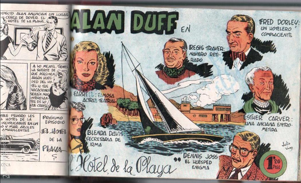 Tebeos: ALAN DUFF ORIGINAL COMPLETA 1 AL 30 EDI. MARCO 1952 DIBUJOS JULIO VIVAS, MUY BIEN CONSERVADOS, VER I - Foto 31 - 61220411