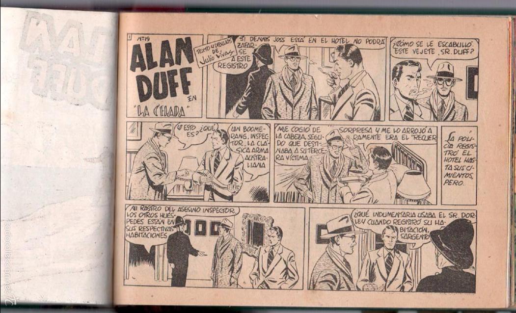 Tebeos: ALAN DUFF ORIGINAL COMPLETA 1 AL 30 EDI. MARCO 1952 DIBUJOS JULIO VIVAS, MUY BIEN CONSERVADOS, VER I - Foto 36 - 61220411