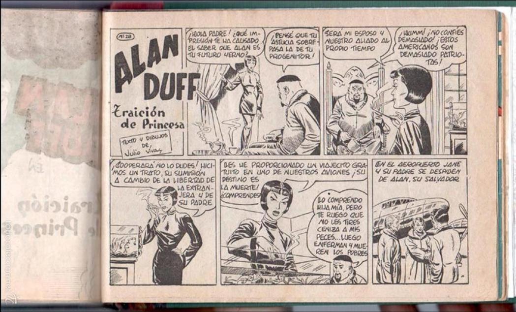 Tebeos: ALAN DUFF ORIGINAL COMPLETA 1 AL 30 EDI. MARCO 1952 DIBUJOS JULIO VIVAS, MUY BIEN CONSERVADOS, VER I - Foto 53 - 61220411