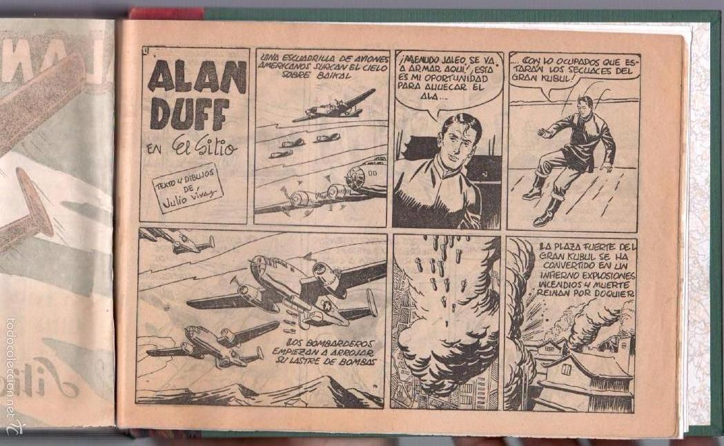 Tebeos: ALAN DUFF ORIGINAL COMPLETA 1 AL 30 EDI. MARCO 1952 DIBUJOS JULIO VIVAS, MUY BIEN CONSERVADOS, VER I - Foto 55 - 61220411