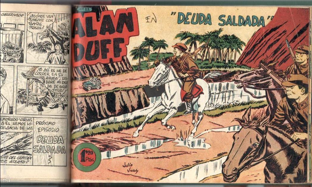 Tebeos: ALAN DUFF ORIGINAL COMPLETA 1 AL 30 EDI. MARCO 1952 DIBUJOS JULIO VIVAS, MUY BIEN CONSERVADOS, VER I - Foto 59 - 61220411