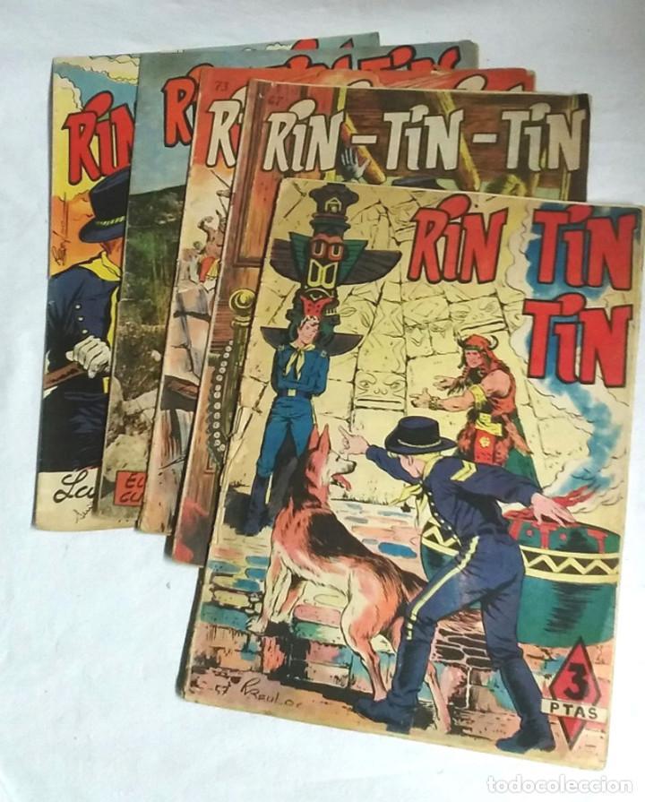 LOTE 5 CÓMICS RIN TIN TIN Nº 57, 67, 73, 102 Y 173 (Tebeos y Comics - Marco - Rin-Tin-Tin)