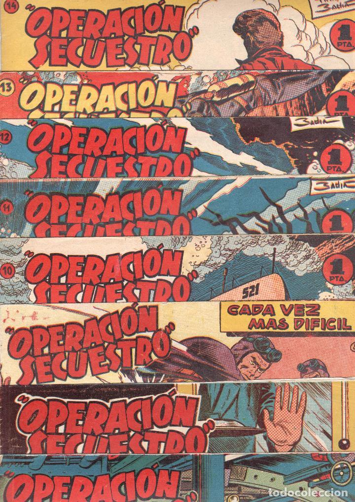 OPERACIÓN SECUESTRO ORIGINALES, LOTE - 1 - 4 - 5 - 10 - 11 - 12 - 13 - 14 Y ÚLTIMO , EDI MARCO 1959 (Tebeos y Comics - Marco - Otros)