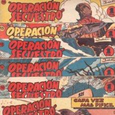 Tebeos: OPERACIÓN SECUESTRO ORIGINALES, LOTE - 1 - 4 - 5 - 10 - 11 - 12 - 13 - 14 Y ÚLTIMO , EDI MARCO 1959. Lote 65423595