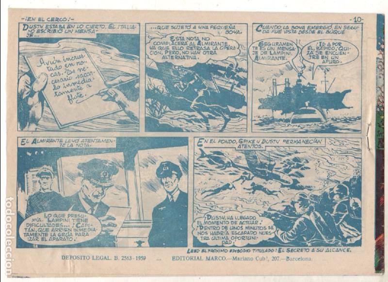 Tebeos: OPERACIÓN SECUESTRO ORIGINALES, LOTE - 1 - 4 - 5 - 10 - 11 - 12 - 13 - 14 Y ÚLTIMO , EDI MARCO 1959 - Foto 13 - 65423595