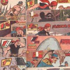 Tebeos: EL HALCÓN NEGRO ORIGINAL E. MARCO1959 - LOTE Nº 2-4-5-6-7-8-9-11-14-15-17-20. Lote 65424547