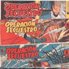 Tebeos: OPERACIÓN SECUESTRO ORIGINAL EDI. MARCO 1959 - LOTE NºS - 1 - 4 - 11 - 13 POR HRNOS.BADÍA Y AYNÉ. Lote 65426203