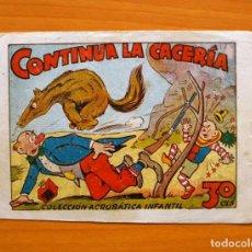 Tebeos: PIRULO Y TONTOLOTE - CONTINUA LA CACERIA - EDITORIAL MARCO, AÑOS 40. Lote 69313649