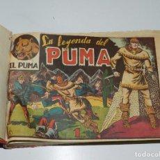 Tebeos: (M6) EL PUMA - SERIE I Y II COMPLETA , 120 NUMEROS ENCUADERNADA , MARTINEZ OSETE , EDT MARCO. Lote 77205549