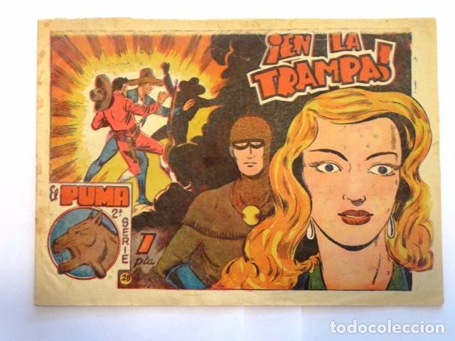 COMIC EL PUMA EN LA TRAMPA 2ª SERIE EDITORIAL MARCO Nº28 (Tebeos y Comics - Marco - Otros)