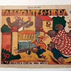 Tebeos: Nº 1 FABRICANTES DE SIDRA - BIBLIOTECA ESPECIAL PARA NIÑOS - EDITORIAL MARCO 30 CTS. ORIGINAL . Lote 82047028