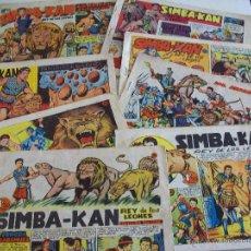 Tebeos: SIMBA-KAN / LOTE DE 8 NÚMEROS- ORIGINALES. Lote 83593132