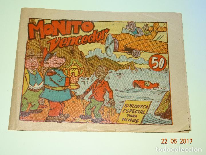 MONITO VENCEDOR DE BIBLIOTECA ESPECIAL PARA NIÑOS DE EDITORIAL MARCO- AÑO 1940S. (Tebeos y Comics - Marco - Hipo (Biblioteca especial))