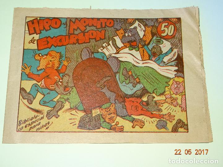 HIPO Y MONITO DE EXCURSION - BIBLIOTECA ESPECIAL PARA NIÑOS DE EDITORIAL MARCO- AÑO 1940S. (Tebeos y Comics - Marco - Hipo (Biblioteca especial))
