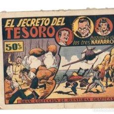 Tebeos: GRAN COLECCION DE AVENTURAS GRAFICAS. EL SECRETO DEL TESORO. HAZAÑAS DE LOS TRES NAVARRO. Lote 87350608
