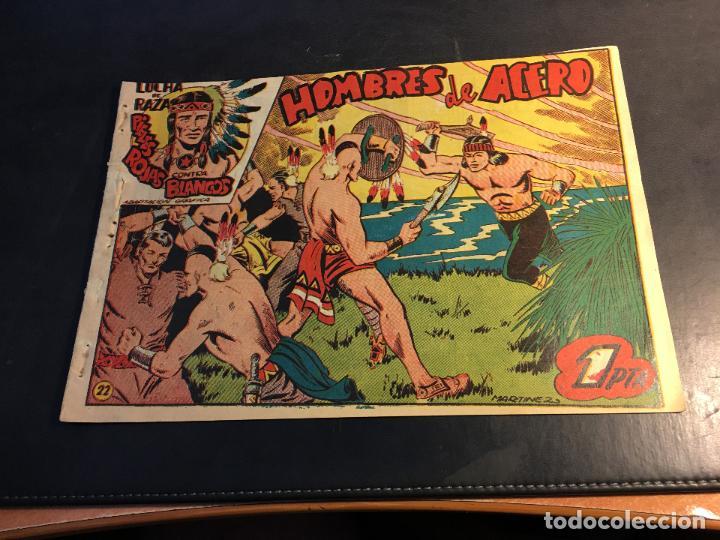 LUCHA DE RAZAS. PIELES ROJAS CONTRA BLANCOS Nº 22 (ORIGINAL MARCO) (C5) (Tebeos y Comics - Marco - Otros)