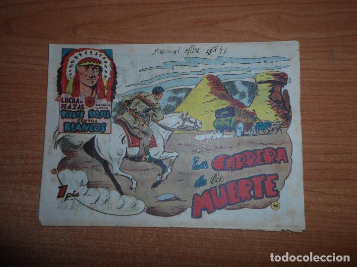 LUCHA DE RAZAS - PIELES ROJAS CONTRA BLANCOS - Nº 46 EDITORIAL MARCO ORIGINAL (Tebeos y Comics - Marco - Otros)