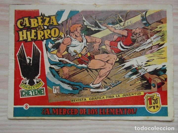 ¡A MERCED DE LOS ELEMENTOS!. Nº 8 DE CABEZA DE HIERRO DE COLECCION CHEYENE. ED. MARCO. 1959 (Tebeos y Comics - Marco - Otros)