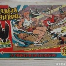 Tebeos: ¡A MERCED DE LOS ELEMENTOS!. Nº 8 DE CABEZA DE HIERRO DE COLECCION CHEYENE. ED. MARCO. 1959. Lote 99249091