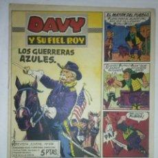 Tebeos: DAVY Y SU FIEL ROY Nº 326 -LOS GUERRERAS AZULES-M. SUBIRATS-J.CASTILLO-BUENO-MUY DIFÍCIL-1967-7407. Lote 103625743