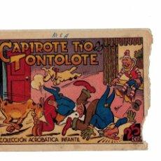 Tebeos: COLECCIÓN ACROBÁTICA INFANTIL -CAPIROTE TÍO DE TONTOLOTE- ORIGINAL MARCO 1942.. Lote 103638655
