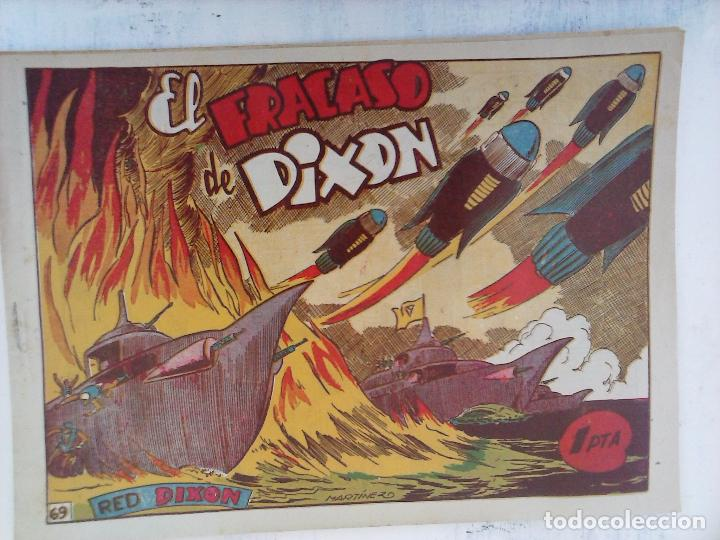 Tebeos: RED DIXON 1ª serie ORIGINAL 1954 EDI. MARCOS 1 AL 70 completa - MARTÍNEZ DIBUJOS, ver portadas - Foto 3 - 103975539