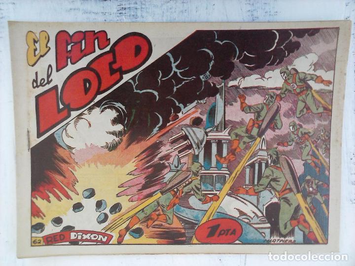 Tebeos: RED DIXON 1ª serie ORIGINAL 1954 EDI. MARCOS 1 AL 70 completa - MARTÍNEZ DIBUJOS, ver portadas - Foto 8 - 103975539