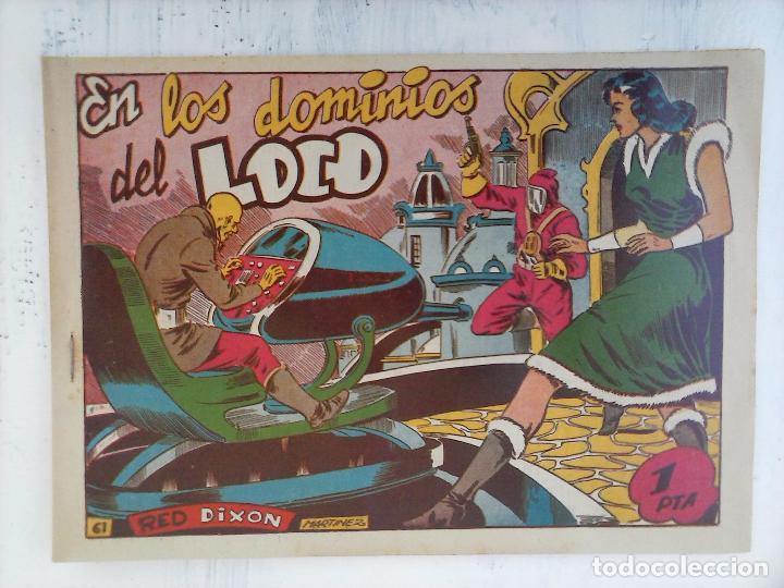 Tebeos: RED DIXON 1ª serie ORIGINAL 1954 EDI. MARCOS 1 AL 70 completa - MARTÍNEZ DIBUJOS, ver portadas - Foto 9 - 103975539