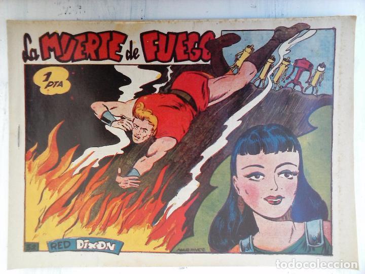 Tebeos: RED DIXON 1ª serie ORIGINAL 1954 EDI. MARCOS 1 AL 70 completa - MARTÍNEZ DIBUJOS, ver portadas - Foto 12 - 103975539