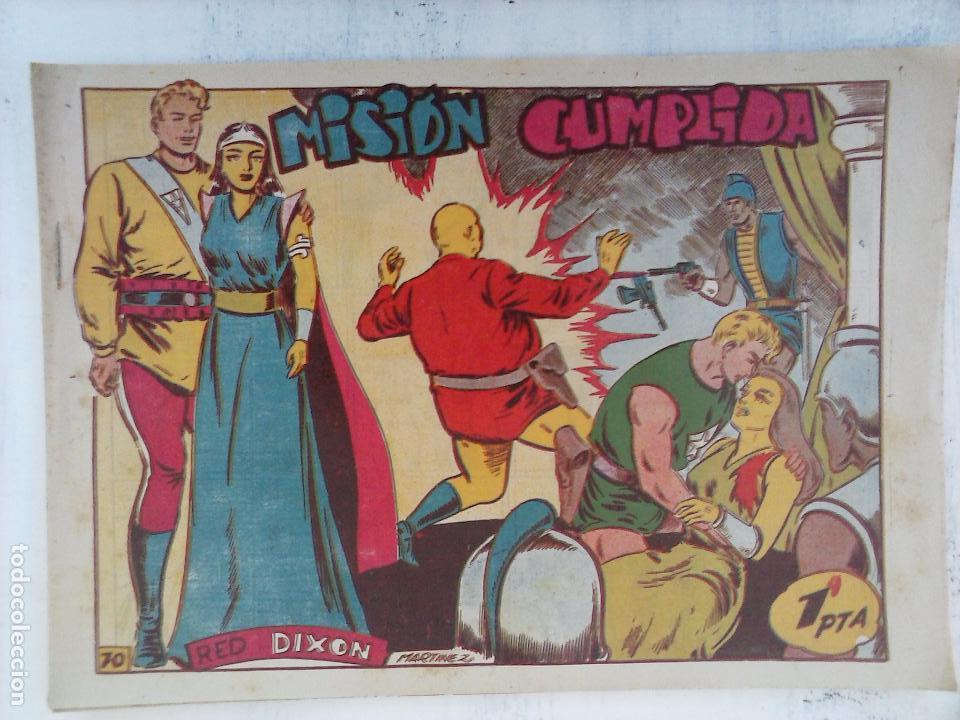 Tebeos: RED DIXON 1ª serie ORIGINAL 1954 EDI. MARCOS 1 AL 70 completa - MARTÍNEZ DIBUJOS, ver portadas - Foto 15 - 103975539