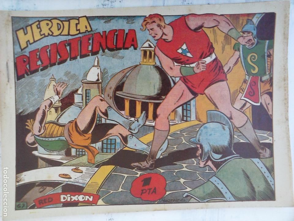 Tebeos: RED DIXON 1ª serie ORIGINAL 1954 EDI. MARCOS 1 AL 70 completa - MARTÍNEZ DIBUJOS, ver portadas - Foto 19 - 103975539