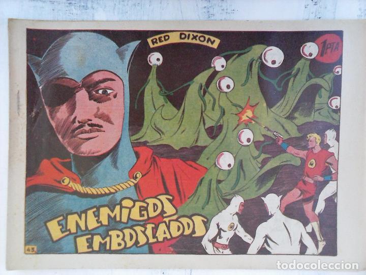 Tebeos: RED DIXON 1ª serie ORIGINAL 1954 EDI. MARCOS 1 AL 70 completa - MARTÍNEZ DIBUJOS, ver portadas - Foto 44 - 103975539