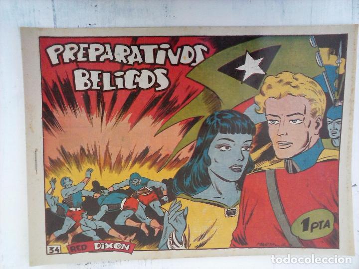 Tebeos: RED DIXON 1ª serie ORIGINAL 1954 EDI. MARCOS 1 AL 70 completa - MARTÍNEZ DIBUJOS, ver portadas - Foto 57 - 103975539