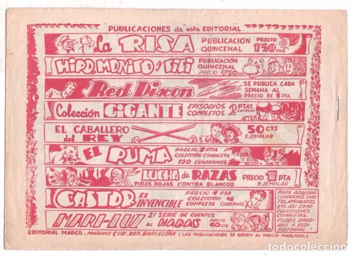 Tebeos: RED DIXON 1ª serie ORIGINAL 1954 EDI. MARCOS 1 AL 70 completa - MARTÍNEZ DIBUJOS, ver portadas - Foto 86 - 103975539