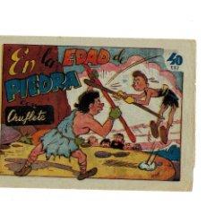 Tebeos: EN LA EDAD DE PIEDRA CON CHUFLETE Nº 1 Y ÚNICO. ORIGINAL AÑOS 40 -MUY BUENO-. Lote 105674183