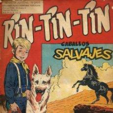 Tebeos: RIN-TIN-TIN Nº 262 - CABALLOS SALVAJES - OLIVE Y HONTORIA 1966 - ORIGINAL - VER DESCRIPCION. Lote 106639319