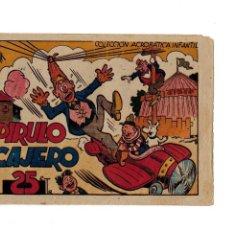 Tebeos: COLECCIÓN ACROBÁTICA INFANTIL - PIRULO CAJERO- ORIGINAL. AÑO 1942.DE 25 CTS . Lote 106659275