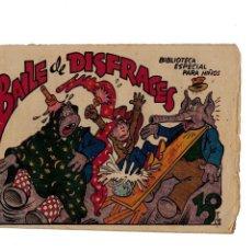 Tebeos: BIBLIOTECA ESPECIAL PARA NIÑOS -BAILE DE DISFRACES- ORIGINAL.1942. . Lote 107277471
