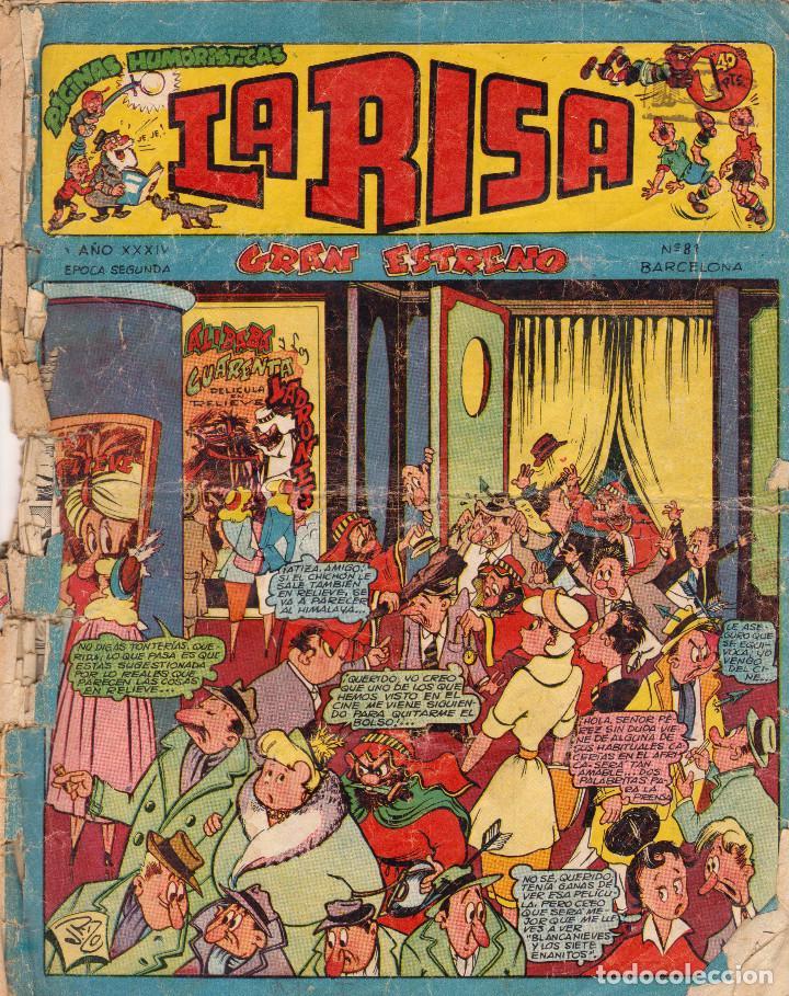 LA RISA. AÑO XXXIV. SEGUNDA ÉPOCA. NÚMERO 81 (Tebeos y Comics - Marco - La Risa)