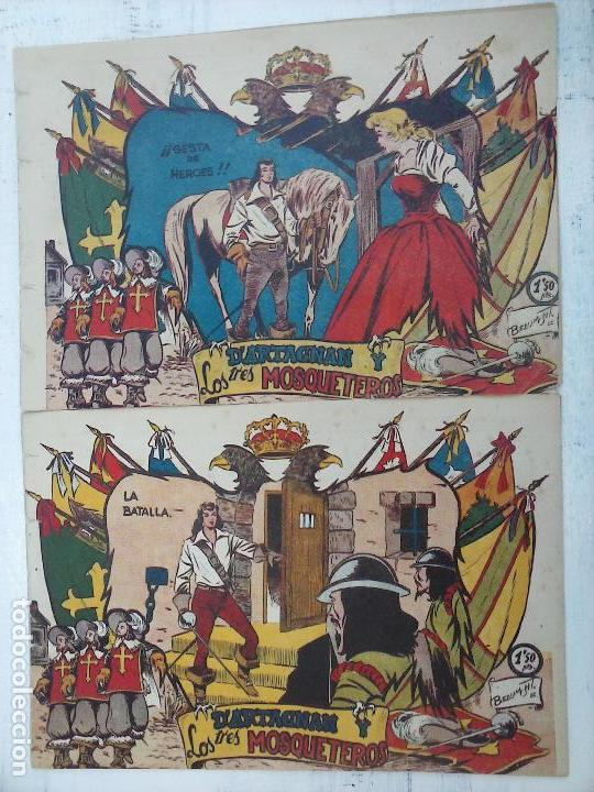 D'ARTAGNAN Y LOS TRES MOSQUETEROS ORIGINALES NºS 4 Y 5 - EDI. FERMA (Tebeos y Comics - Marco - Otros)