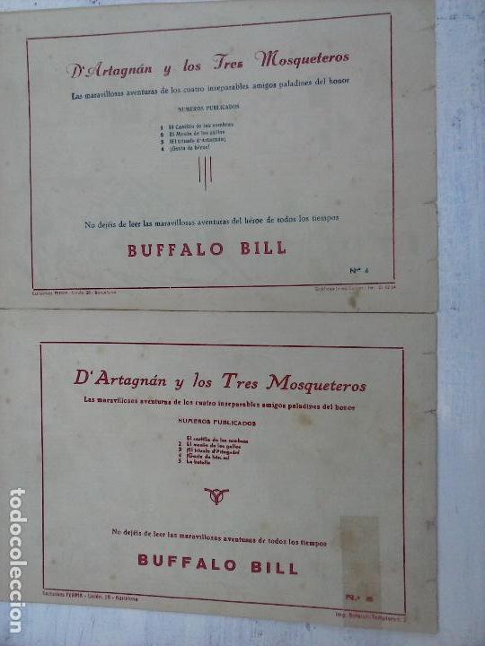 Tebeos: DARTAGNAN Y LOS TRES MOSQUETEROS ORIGINALES NºS 4 Y 5 - EDI. FERMA - Foto 2 - 108279555
