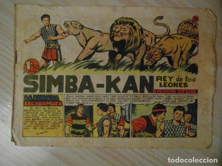 LA PRIMERA ESCARAMUZA. Nº 26 DE SIMBA-KAN. EDITORIAL MARCO. 1961. MARTINEZ OSETE (Tebeos y Comics - Marco - Otros)