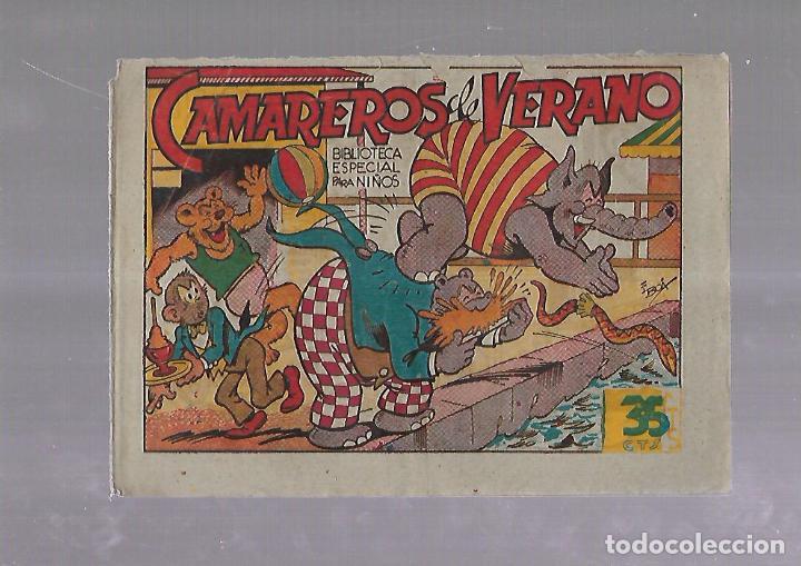 TEBEO. CAMAREROS DE VERANO. BIBLIOTECA ESPECIAL PARA NIÑOS. EDITORIAL MARCO (Tebeos y Comics - Marco - Otros)