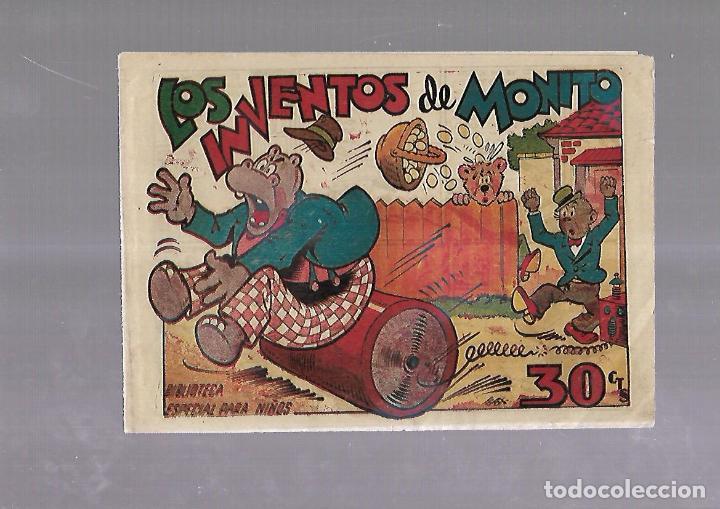 TEBEO. LOS INVENTOS DE MONITO. BIBLIOTECA ESPECIAL PARA NIÑOS. EDITORIAL MARCO (Tebeos y Comics - Marco - Otros)