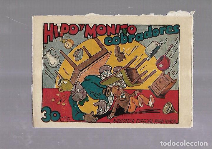 TEBEO. HIPO Y MONITO COBRADORES. BIBLIOTECA ESPECIAL PARA NIÑOS. EDITORIAL MARCO (Tebeos y Comics - Marco - Otros)