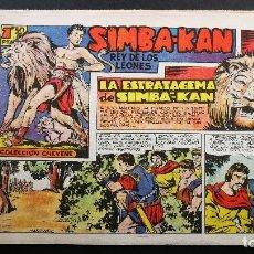 Tebeos: ORIGINAL SIMBA-KAN REY DE LOS LEONES Nº 15 LA ESTRATAGEMA DE SIMBA-KAN, EDITORIAL MARCO 1959. Lote 113675015