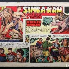 Tebeos: ORIGINAL SIMBA-KAN REY DE LOS LEONES Nº 16 FIELES AMIGOS, EDITORIAL MARCO 1959. Lote 113675087