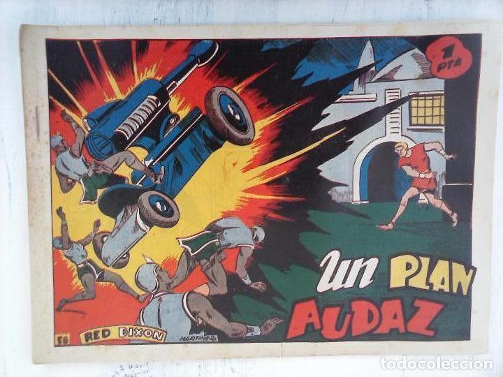 Tebeos: RED DIXON 1ª serie ORIGINAL 1954 EDI. MARCOS 1 AL 70 completa - MARTÍNEZ DIBUJOS, ver portadas - Foto 26 - 103975539